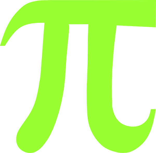 Lime green pi clip art at vector clip art for Pi character