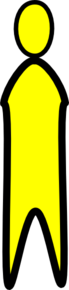 Person1-yellow Clip Art