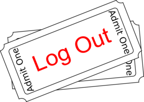 Log Ticket Button Clip Art