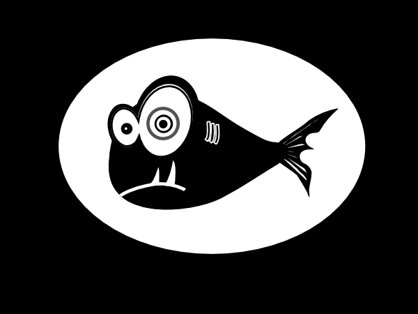 Funky Black Fish White Background Clip Art at Clker.com ...