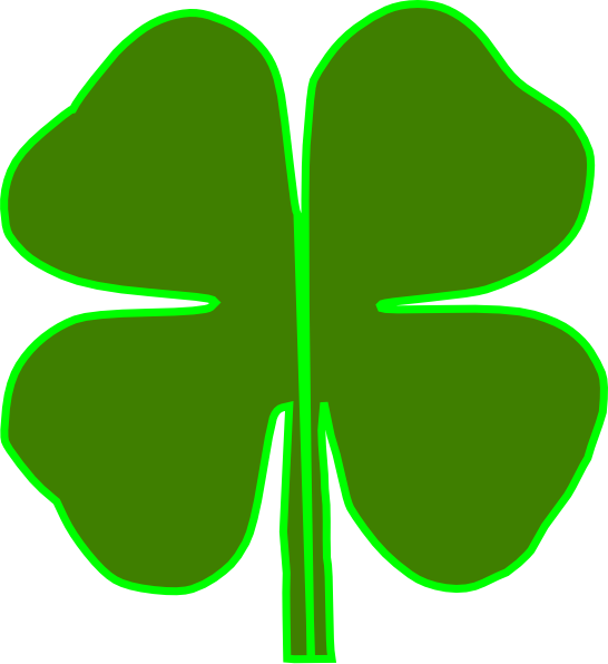 4 leaf clover divided in half clip art at clker com vector clip rh clker com  free 4 h clover clipart