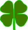 4 Leaf Clover Divided In Half Clip Art