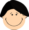 Smiling Dark Hair Boy Clip Art