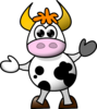 Moo The Cow Clip Art