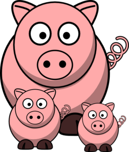 Momma Pig With Baby Pigs Clip Art