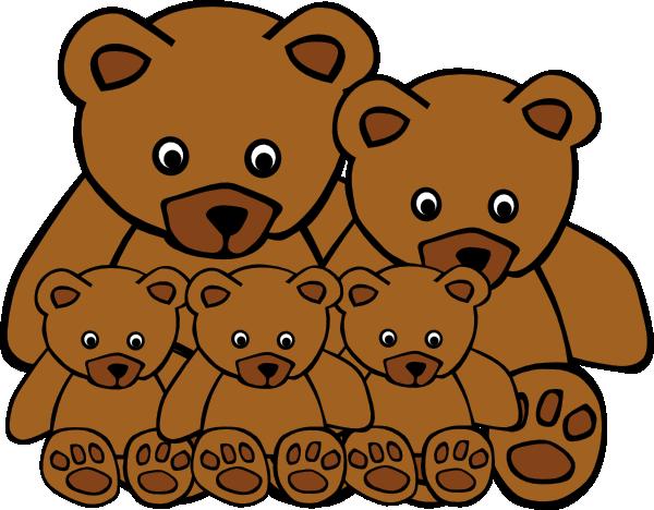 free clip art bear family - photo #1