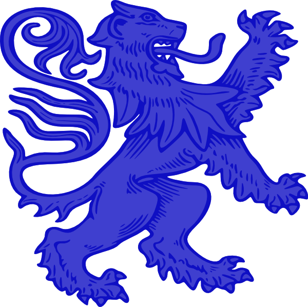 Blue lion logo with crown - photo#4