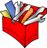 Red Toolbox Full Clip Art