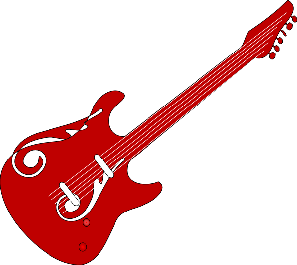 Red Guitar Clip Art at Clker.com - vector clip art online, royalty ...