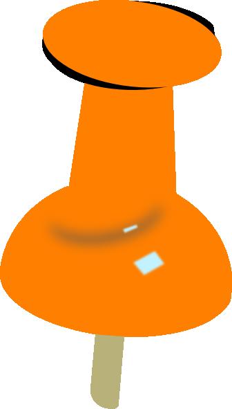 orange push pin clip art at clker com vector clip art push pin clip art vector push pin clipart transparent background