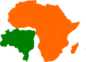 Africa Brazil Map Clip Art at Clker.com - vector clip art online ...