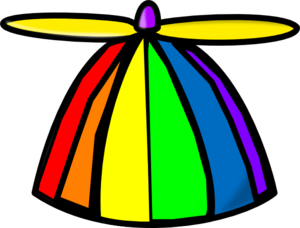 Rainbow Propellor Hat Clip Art