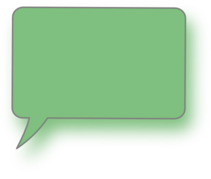 Light Green Bottom Left Speech Bubble Clip Art