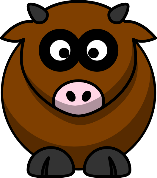 Cow brown. Clip art at clker