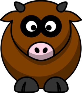 Brown  Cow Clip Art