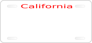 California License Plate Clip Art