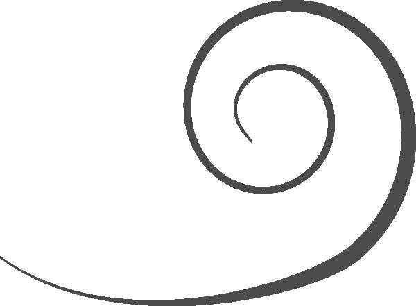 Grey Swirl Clip Art at Clker.com - vector clip art online ...