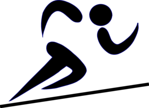 Runner Blk Line No Stripe Clip Art