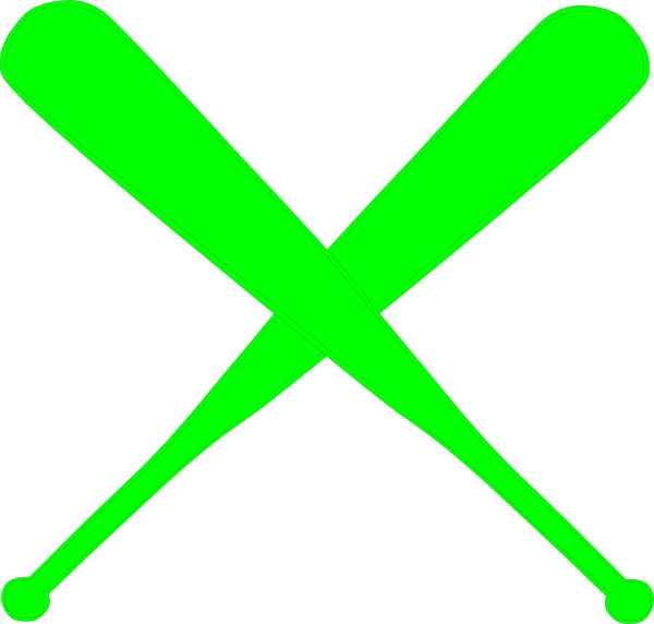 Crossed Softball Bat Clip Art Hot green bats clip art