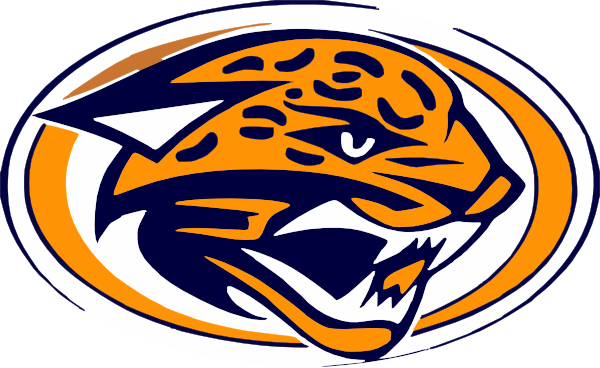 jaguars gold yellow and navy blue cut clip art at clker