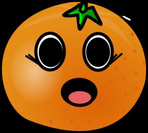 Talking Girl Orange Clip Art at Clker.com - vector clip art online ...