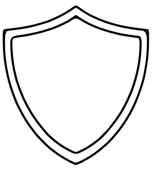 Ctr shield clip art at vector clip art online for Blank shield template printable