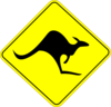 Kangaroo Road Sign Clip Art