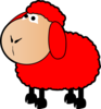 Red Sheep Clip Art