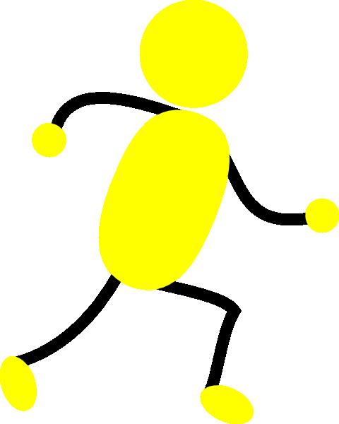Yellow Man Running Clip Art at Clker.com - vector clip art online ...