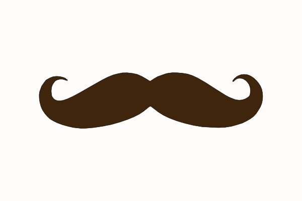 Brown Mustache Clip Art at Clker.com - vector clip art online, royalty ...