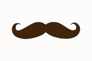 brown mustache clip art at clker com vector clip art online rh clker com image clipart moustache clipart moustache free
