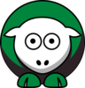 Sheep - North Texas Mean Green - Team Colors - College Football Clip Art
