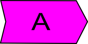Arrow With An A Purple Clip Art