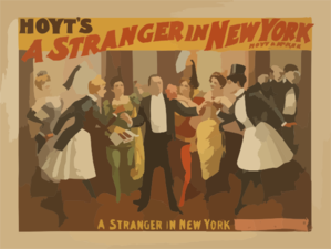 Hoyt S A Stranger In New York Clip Art