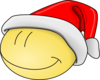 Xmas Smiley Face Clip Art