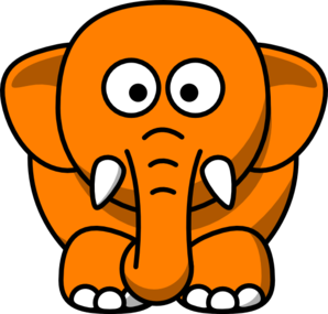 Orange Elephant Clip Art