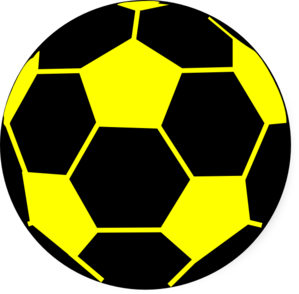 Black Yellow Ball 2  Clip Art