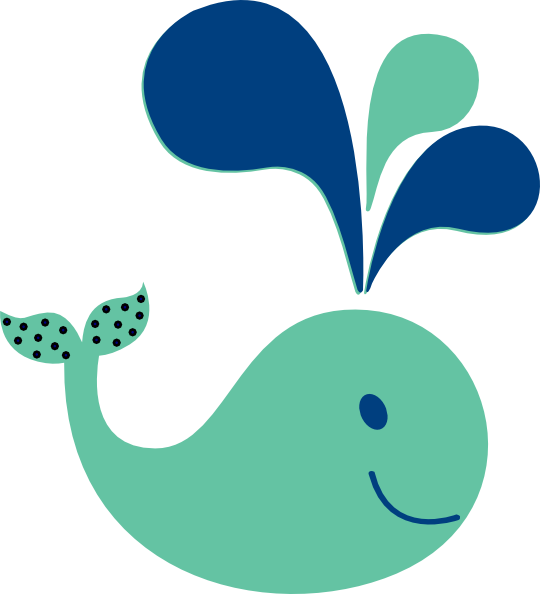 baby shower whale clipart - photo #16