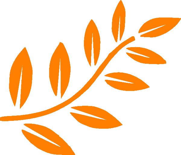 Orange leaf branch clip art at vector clip art for Amber leaf