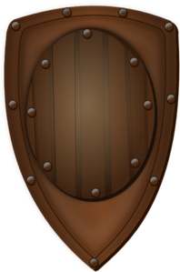 Wood Shield Clip Art