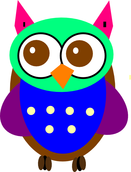 Colorful baby owl clip art at vector clip art for A cartoon owl