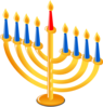 Menorah No Shadow Clip Art