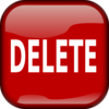 Red Delete Square Button Clip Art
