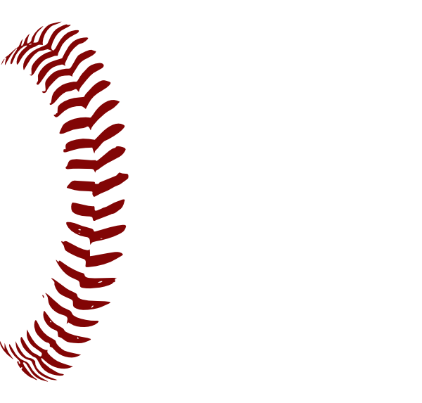 Red Softball Laces 1 Clip Art At Clker Com Vector Clip