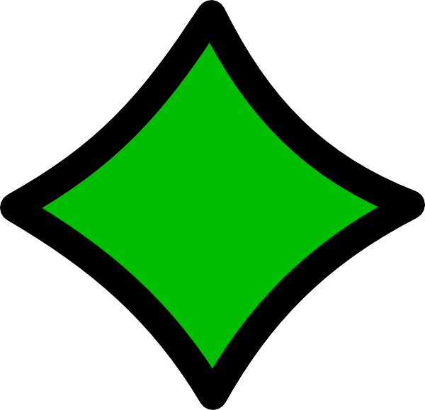 Diamond Green Black Outline Clip Art at Clker.com - vector ...