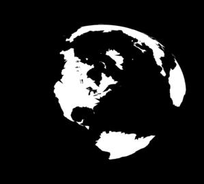 Black And White Globe Clip Art at Clker.com - vector clip ...