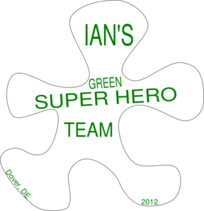Ian S Green Super Hero Team Clip Art