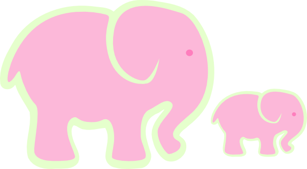 clip art pink elephant - photo #14