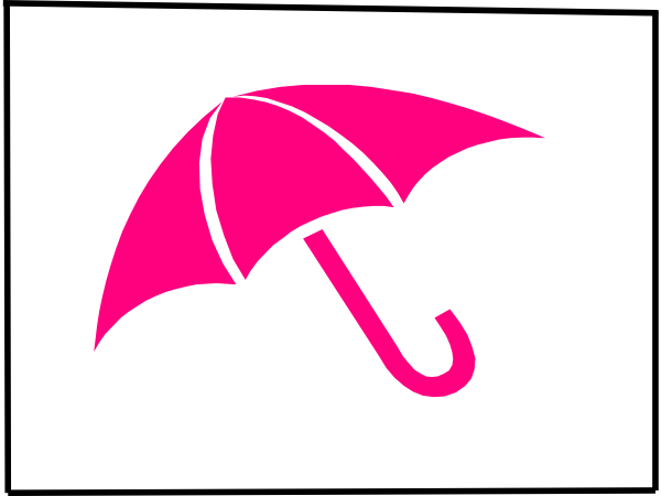 Pink Umbrella By Bary J Clip Art at Clker.com - vector ...