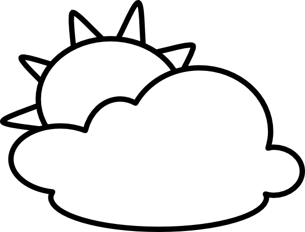Cloudy weather coloring pages